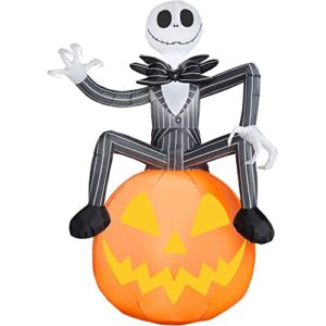 6 ft jack skellington pumpkin inflatable decorations nightmare before christmas stands 6 tall internally lighted for nighttime display
