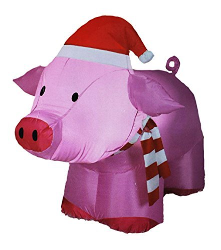 airblown inflatable outdoor christmas pig 3 ft tall